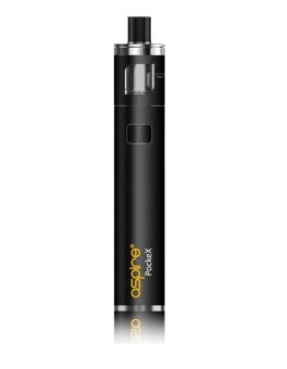 Kit Tigara Electronica Aspire PockeX AIO Black, 1500 mAh, 2 rezistente 0.6 oHm incluse