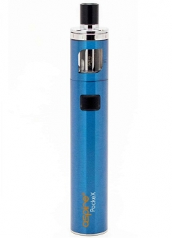 Kit Tigara Electronica Aspire PockeX AIO Blue, 1500 mAh, 2 rezistente 0.6 oHm incluse