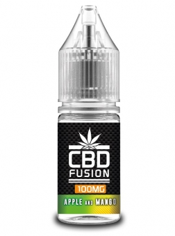 Lichid CBD Fusion Apple and Mango, 10ml, 100mg, CBD Organic, Concentratie 1%, fara THC, fabricat in UK, Calitate Premium