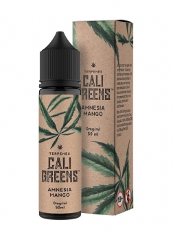 Lichid cu Terpene Naturale Cali Greens Amnesia Mango, 50ml, Shortfill 60 ml, Calitate Premium, Made in UK