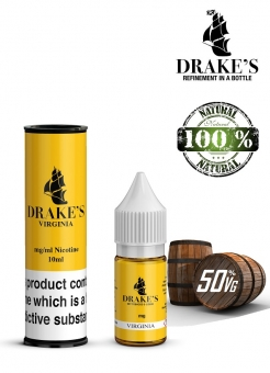 Lichid Extras din Tutun Natural Drake's Virginia, Frunze Macerate la Rece, 10 ml, 0mg Nicotina