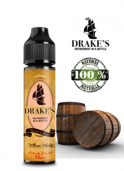 Lichid Tigara Electronica Drakes William's Whiskey Tobacco Fusion Handcrafted, NET - Extras Natural din Frunze de Tutun Organic si Whisky prin Macerare la Rece