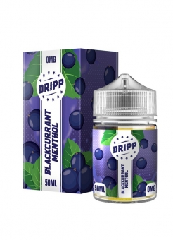 Lichid Tigara Electronica Dripp Blackcurrant Menthol, 50ml, Fara Nicotina, 70%VG / 30%PG, Fabricat in UK, Shortfill 60ml
