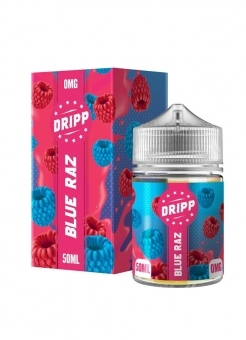 Lichid Tigara Electronica Dripp Blu Raz, 50ml, Fara Nicotina, 70%VG / 30%PG, Fabricat in UK, Shortfill 60ml