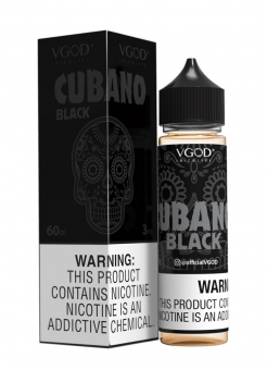 Lichid Tigara Electronica Premium Handcrafted VGOD Cubano Black, 50ml, Fara Nicotina, 70VG / 30PG, Fabricat in USA
