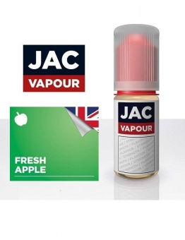Lichid Tigara Electronica Premium Jac Vapour Fresh Apple 10ml, cu Nicotina, VG/PG, Fabricat in UK