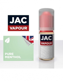 Lichid Tigara Electronica Premium Jac Vapour Pure Menthol 10ml, cu Nicotina, VG/PG, Fabricat in UK