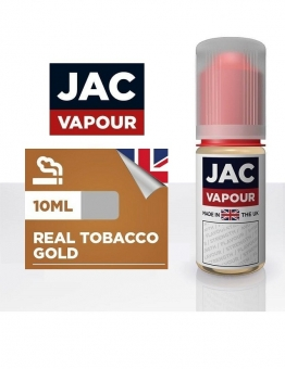 Lichid Tigara Electronica Premium Jac Vapour Real Tobacco Gold 10ml, cu Nicotina, VG/PG, Fabricat in UK