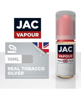 Lichid Tigara Electronica Premium Jac Vapour Real Tobacco Silver 10ml, cu Nicotina, VG/PG, Fabricat in UK