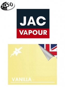Lichid Tigara Electronica Jac Vapour Vanilla 10ml cu Nicotina 50%VG 50%PG, Fabricat in UK
