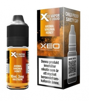 Lichid Tigara Electronica Premium Xeo Virginia Honey Tobacco, cu Nicotina, 70%VG si 30%PG, Fabricat in Germania
